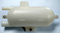 OEM CARRIER TRANSICOLD REEFER REPLACEMENT COOLANT TANK/RESERVOIR 58-04661-02 / 58-01432-00SV   OEM Carrier Transicold Reefer replacement coolant tank/reservoir, Part # 58-01432-00SV.  Replaces old Part# 58-04661-02.  Marked with Min & Max coolant level indicators.  Fits Carrier Transicold Reefer Model# X2 2100A.   Made in the U.S.A.