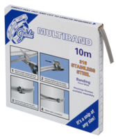 JB-MB1901 Multiband 316 Stainless Steel 11mm Banding 10m (Highest Corrosion Resistance)